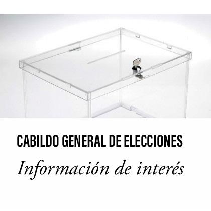 Cabildo de Elecciones. Abierto el plazo de presentación de candidatos.