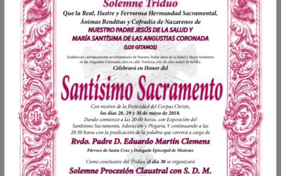 Triduo al Santísimo Sacramento