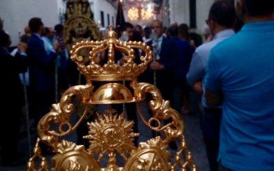 La Hermandad acompaña a la Virgen del Carmen de Santa Catalina en su salida procesional