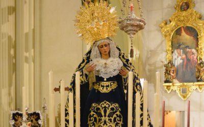 María Santísima de las Angustías ya se encuentra ataviada para la festividad del 8 de Septiembre