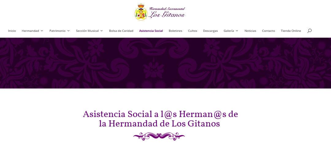 """La Hermandad de Los Gitanos presenta su nueva herramienta web """"Asistencia Social"""""""