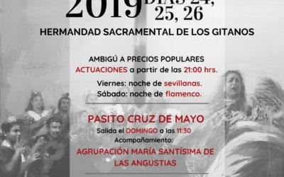 Los días 24, 25 y 26 la Hermandad celebra su tradicional Cruz de Mayo