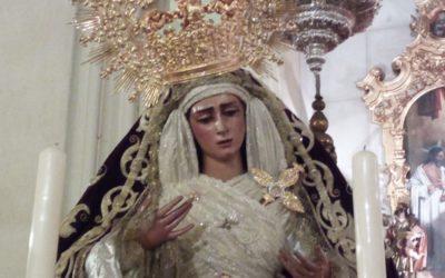 La Virgen de la Angustias preparada para la festividad del 8 de septiembre