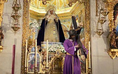 El Señor de la Salud y la Virgen de las Angustias visten de morado, el color de las rogativas