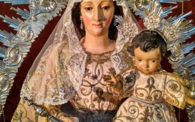 La Virgen del Valle preparada para la Festividad del 8 de Septiembre