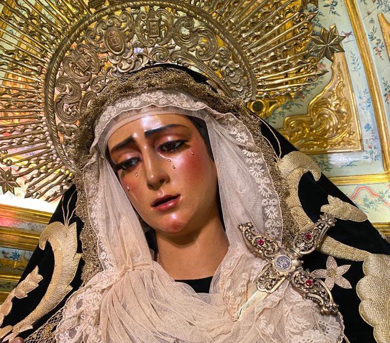 La Virgen de las Angustias de luto en el mes de los difuntos
