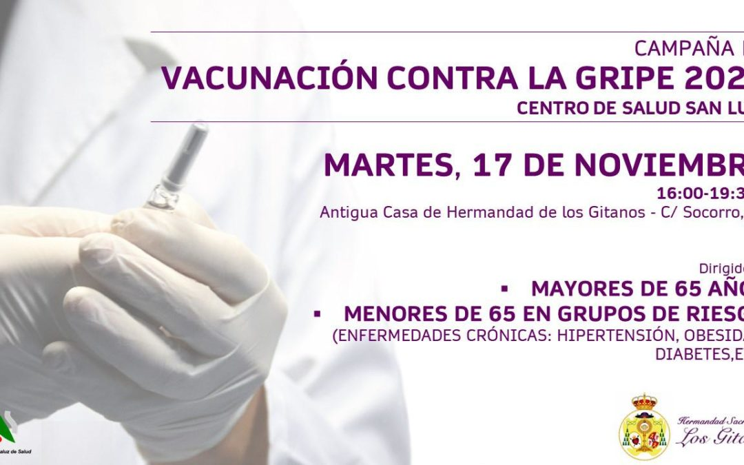 Vacunación contra la gripe en las antiguas dependencias de la Hermandad