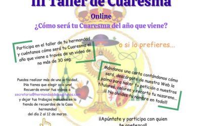 IIIº Taller de Cuaresma Hermandad Sacramental de Los Gitanos