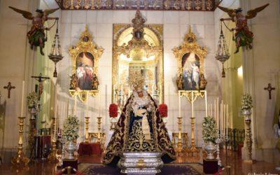 La Virgen de las Angustias en Veneración con motivo de la Festividad del 8 de septiembre